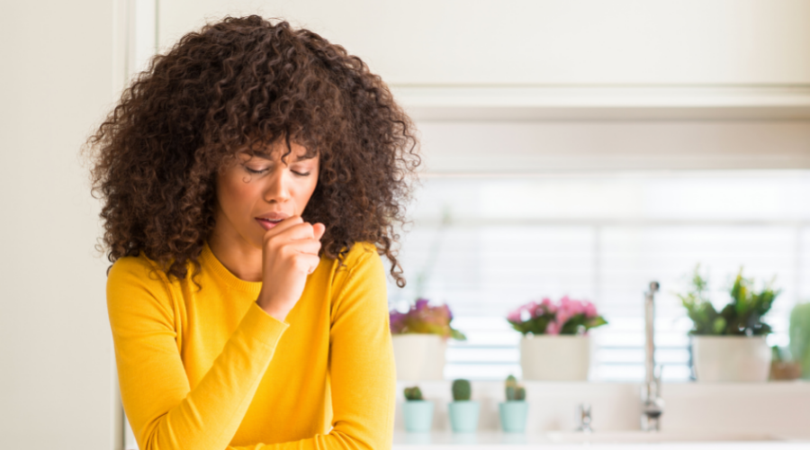 woman suffering from chronic cough